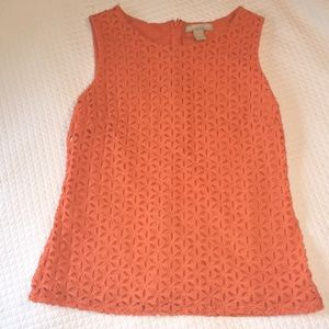 Eyelet Lace Fitted Top